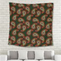 Pattern Abstract Paisley Swirls Square Tapestry (Large) View2