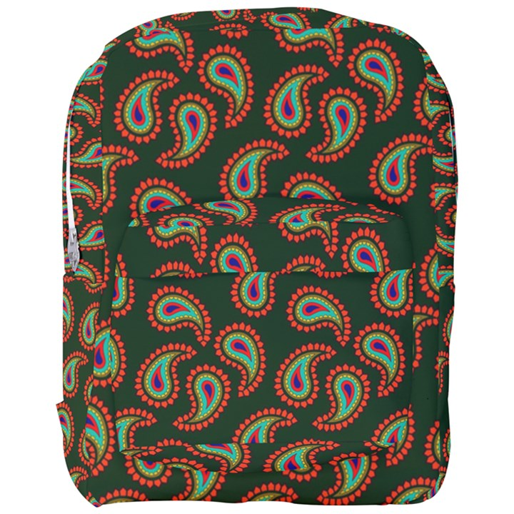 Pattern Abstract Paisley Swirls Full Print Backpack