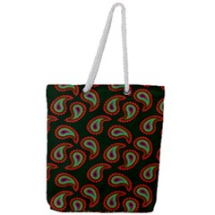 Pattern Abstract Paisley Swirls Full Print Rope Handle Tote (large) by Sapixe