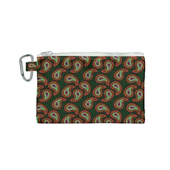 Pattern Abstract Paisley Swirls Canvas Cosmetic Bag (small) by Sapixe