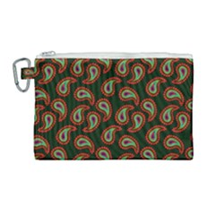 Pattern Abstract Paisley Swirls Canvas Cosmetic Bag (large) by Sapixe