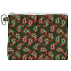 Pattern Abstract Paisley Swirls Canvas Cosmetic Bag (xxl) by Sapixe