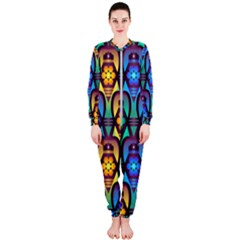 Pattern Background Bright Blue Onepiece Jumpsuit (ladies)  by Sapixe