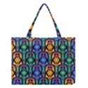 Pattern Background Bright Blue Medium Tote Bag View1