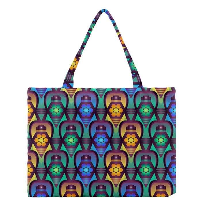 Pattern Background Bright Blue Medium Tote Bag