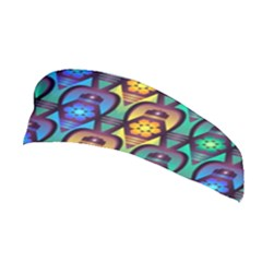 Pattern Background Bright Blue Stretchable Headband