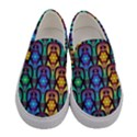 Pattern Background Bright Blue Women s Canvas Slip Ons View1