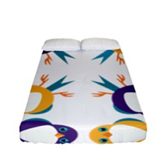 Pattern Circular Birds Fitted Sheet (Full/ Double Size)