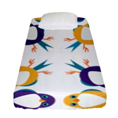 Pattern Circular Birds Fitted Sheet (Single Size)