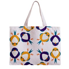 Pattern Circular Birds Zipper Mini Tote Bag by Sapixe