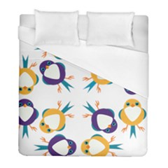 Pattern Circular Birds Duvet Cover (Full/ Double Size)