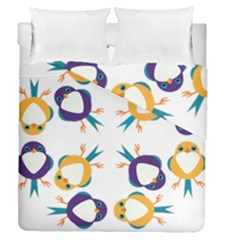 Pattern Circular Birds Duvet Cover Double Side (Queen Size)