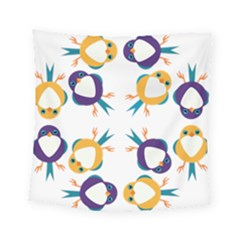 Pattern Circular Birds Square Tapestry (Small)