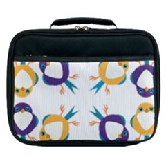 Pattern Circular Birds Lunch Bag by Sapixe