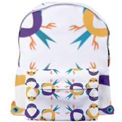Pattern Circular Birds Giant Full Print Backpack