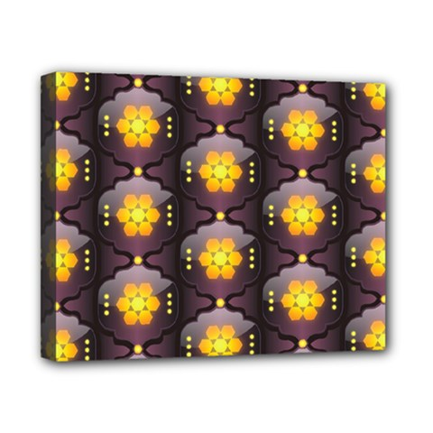 Pattern Background Yellow Bright Canvas 10  x 8
