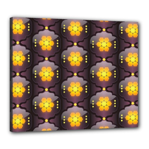 Pattern Background Yellow Bright Canvas 24  x 20