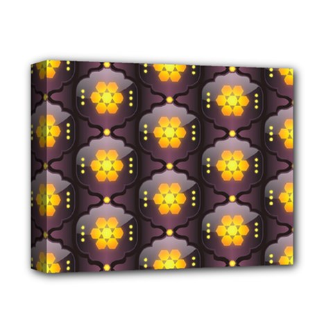 Pattern Background Yellow Bright Deluxe Canvas 14  x 11