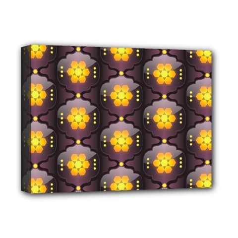 Pattern Background Yellow Bright Deluxe Canvas 16  x 12