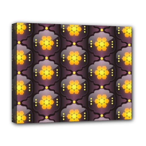 Pattern Background Yellow Bright Deluxe Canvas 20  x 16