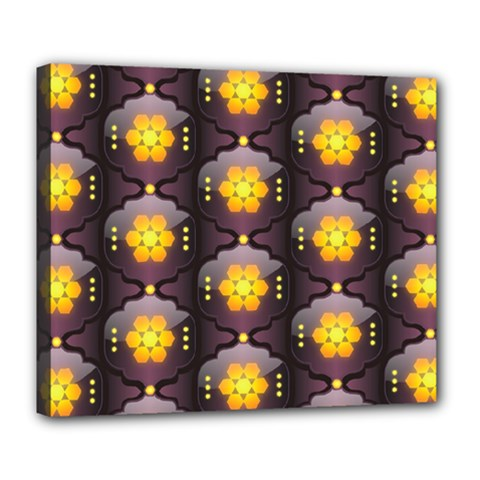 Pattern Background Yellow Bright Deluxe Canvas 24  x 20