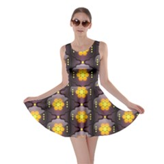Pattern Background Yellow Bright Skater Dress