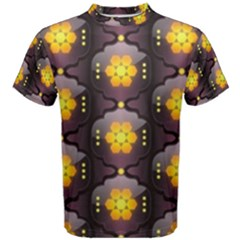 Pattern Background Yellow Bright Men s Cotton Tee