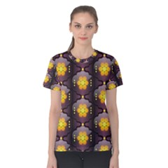 Pattern Background Yellow Bright Women s Cotton Tee