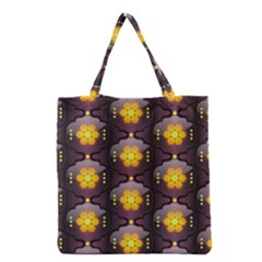 Pattern Background Yellow Bright Grocery Tote Bag