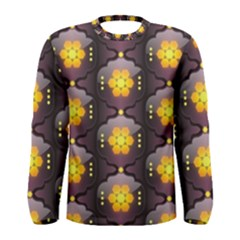 Pattern Background Yellow Bright Men s Long Sleeve Tee