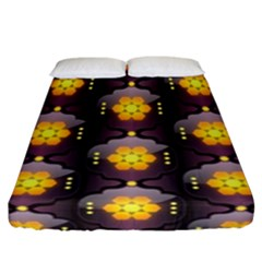 Pattern Background Yellow Bright Fitted Sheet (California King Size)