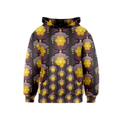 Pattern Background Yellow Bright Kids  Pullover Hoodie