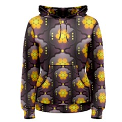 Pattern Background Yellow Bright Women s Pullover Hoodie