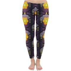 Pattern Background Yellow Bright Classic Winter Leggings