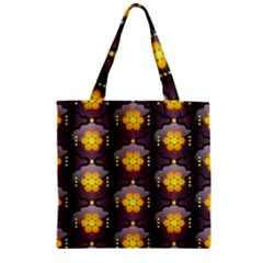 Pattern Background Yellow Bright Zipper Grocery Tote Bag