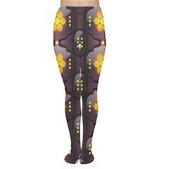 Pattern Background Yellow Bright Women s Tights