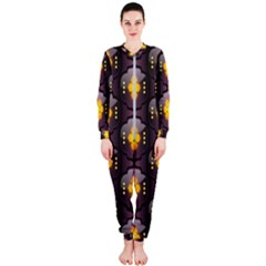 Pattern Background Yellow Bright OnePiece Jumpsuit (Ladies)