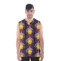 Pattern Background Yellow Bright Men s Basketball Tank Top