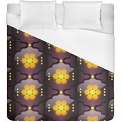 Pattern Background Yellow Bright Duvet Cover (King Size)