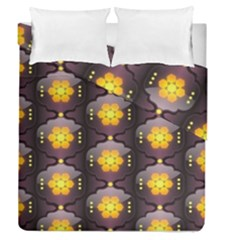 Pattern Background Yellow Bright Duvet Cover Double Side (Queen Size)