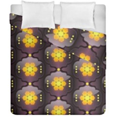Pattern Background Yellow Bright Duvet Cover Double Side (California King Size)
