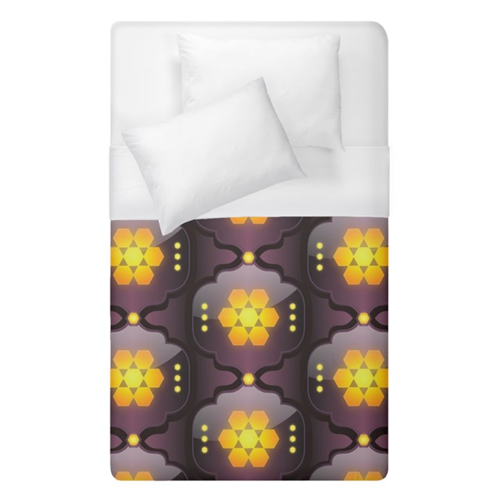 Pattern Background Yellow Bright Duvet Cover (Single Size)