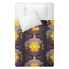 Pattern Background Yellow Bright Duvet Cover Double Side (Single Size)