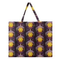 Pattern Background Yellow Bright Zipper Large Tote Bag