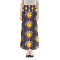 Pattern Background Yellow Bright Full Length Maxi Skirt