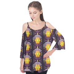 Pattern Background Yellow Bright Flutter Tees