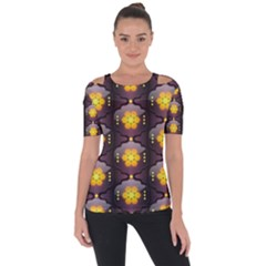 Pattern Background Yellow Bright Short Sleeve Top