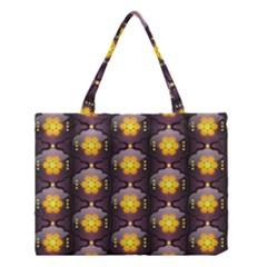 Pattern Background Yellow Bright Medium Tote Bag