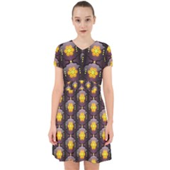 Pattern Background Yellow Bright Adorable in Chiffon Dress