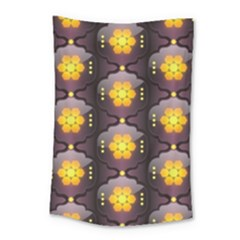 Pattern Background Yellow Bright Small Tapestry